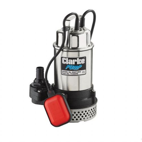 "Clarke DWP150A 1.5"" Submersible Dirty Water Pump With Float Switch 250 Litres/Min 240V~50Hz"